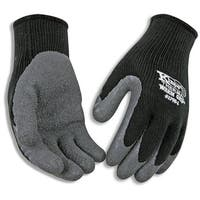 Kinco 1790-M Warm Grip Latex Coated Gloves, Medium, Gray