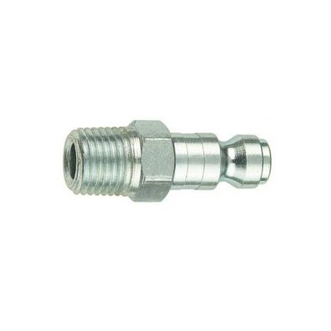 "Forney 75590 Tru-Flate Compatible Air Fitting Plug, 1/4"" x 1/4"" Male NPT"