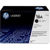 HP 16A Black Original LaserJet Toner Cartridge (Q7516A)(Single Pack)