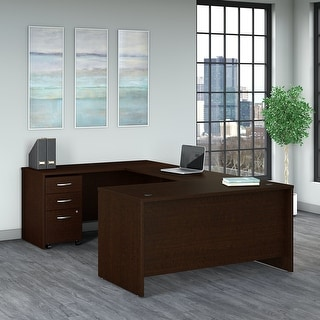 Link to Series C 60W U Shaped Desk with Drawers by Bush Business Furniture Similar Items in Desks & Computer Tables