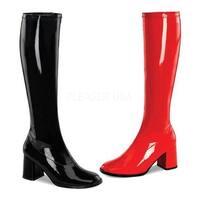 Funtasma Women's Gogo 300HQ Boot Black/Red Patent