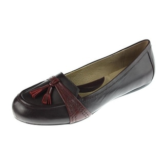 SoftWalk Womens Neverland Leather Tassel Loafers