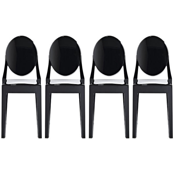 2xhome Set Of 4 Designer Dining Chairs No Arms Armless For Kitchen Bedroom Living Work