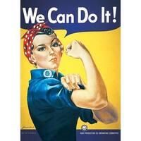 ''Rosie the Riveter: We Can Do It!'' by J. Howard Miller Vintage Advertising Art Print (36 x 24 in.)