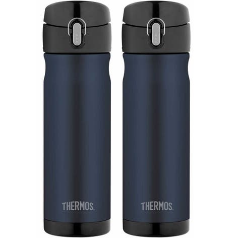 47cec8c34c Thermos 16 Ounce Stainless Steel Commuter Bottle, Midnight Blue (2-Pack)