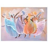 ''Tribute (mini)'' by Lavarne Ross African American Art Print (6.5 x 8 in.)