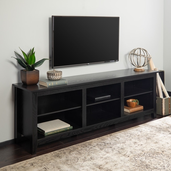 Copper Grove Beaverhead 70-inch Black TV Stand Console. Opens flyout.