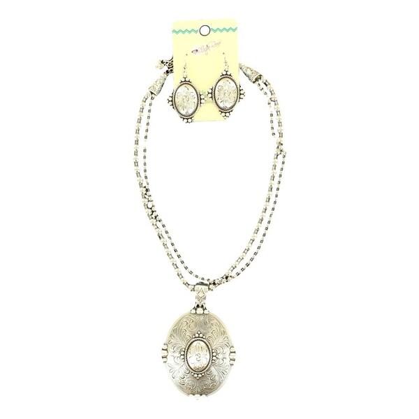 Blazin Roxx Jewelry Womens Necklace Earrings Beaded Silver 29070