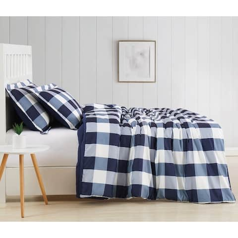 Truly Soft Everyday Buffalo Plaid Printed Comforter Set