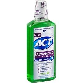 ACT Advanced Care Plaque Guard Mouthwash, Clean Mint 18 oz