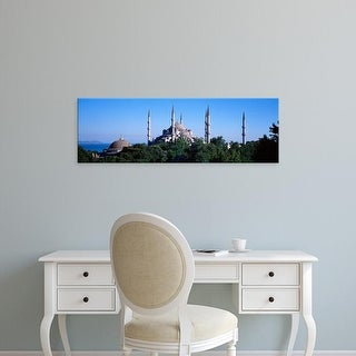 Easy Art Prints Panoramic Images's 'Blue Mosque Istanbul Turkey' Premium Canvas Art