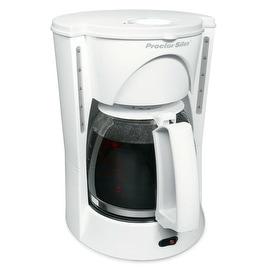 Proctor Silex 48521 Coffeemaker, 12 Cup, White