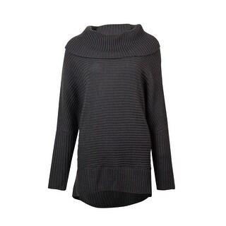 Bar III Women's Long Sleeve Cowl-neck Ribbed Sweater - s