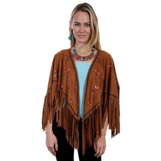 Scully Sweater Womens Cape Feather Embroidery Fringe Hemline HC269 https://ak1.ostkcdn.com/images/products/is/images/direct/b46d445454994edd980dc044a1e3dab63fecc33d/Scully-Sweater-Womens-Cape-Feather-Embroidery-Fringe-Hemline-HC269.jpg?impolicy=medium