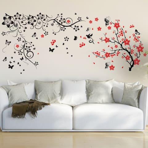 Walplus Spring Flower Blossom Peel and Stick Wall Sticker Home Décor