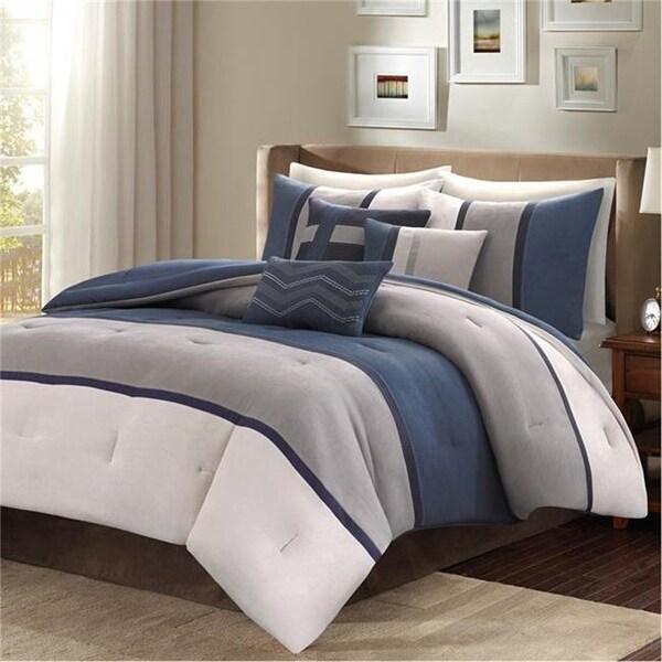 Shop Madison Park Canyon 7 Piece Comforter Set Blue California