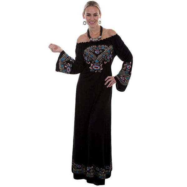 4a10fc7f33 Scully Western Dress Womens Bell Sleeve Embroidered Long Length