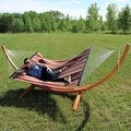 Sunnydaze Wooden Curved Arc Hammock & Hammock Stand, 12 Feet Long, 400 Pound Capacity - Thumbnail 13