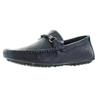 Moda Essentials Men's Driving Slip On Loafers Shoes Monogram Designer Drivers