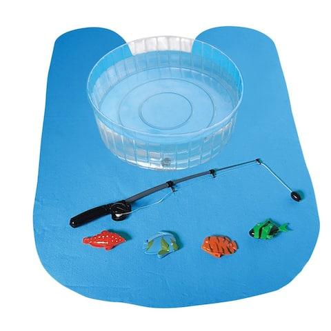 Oliphant Bathroom Fishing Hole Game includes Fishing Pole, Pond, 4 Magnetic Fish, Splash Mat & Do Not Disturb Door Hanger