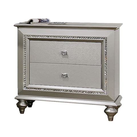 ACME Kaitlyn Nightstand in Champagne