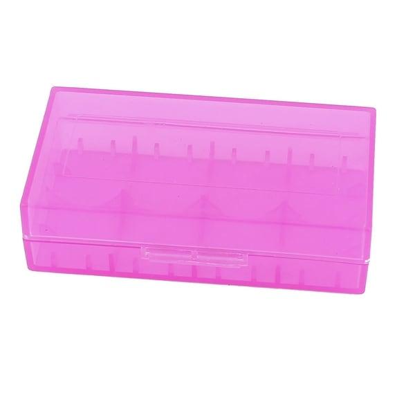Hard Plastic Case Holder Storage Box Purple for 18650 16430 CR123A Battery  sc 1 st  Overstock & Hard Plastic Case Holder Storage Box Purple for 18650 16430 CR123A ...