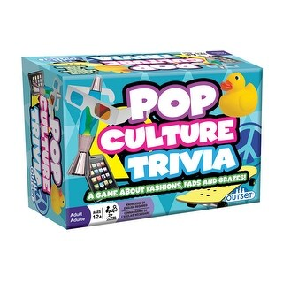 Pop Culture Trivia Game - Portable Car Activity - Ages 12 and Up - multi-color