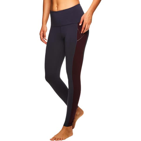 Gaiam Womens Mantra Metallic Athletic Leggings High Rise Yoga - Graphite