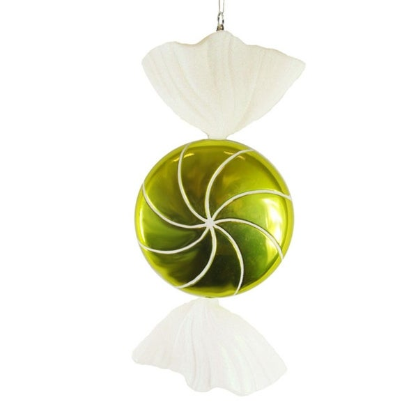 Large Candy Fantasy Wrapped Key Lime Candy Christmas Ornament Decoration 18""