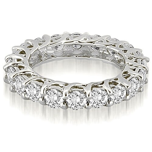 5.10 cttw. 14K White Gold Round Diamond Eternity Ring