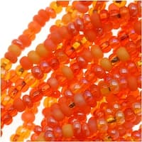 Czech Seed Beads 11/0 Mix Lot L.A. Sunset Orange