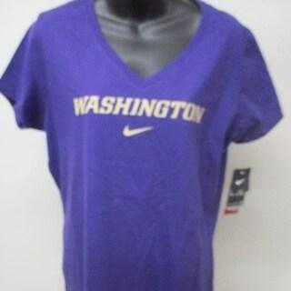 Washington Huskies Women Sizes S L Purple Slim Fit Nike Shirt 26