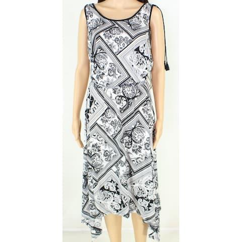 Lauren By Ralph Lauren Womens Dress Black Size 1X Plus Asymmetrical
