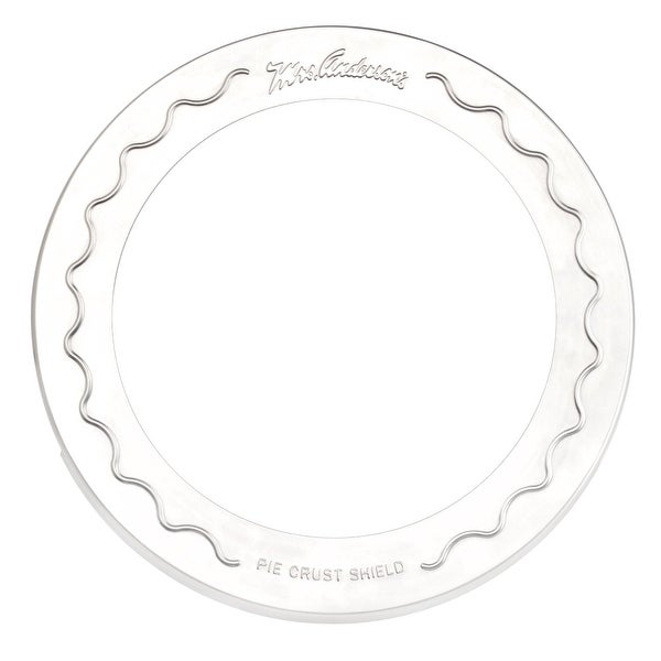 "Mrs Anderson's 109 Original Pie Crust Shield, 10"", Aluminum"