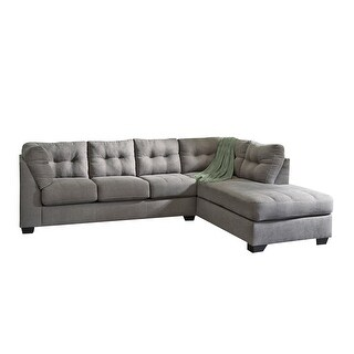 Offex Benchcraft Maier Sectional with Right Side Facing Chaise in Charcoal Microfiber