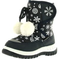 Lj-Adorababy Girl's Winter Snow Boots - Navy - 5 m us toddler
