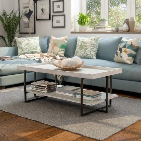 Furniture of America Damara Transitional 47-inch 1-shelf Coffee Table