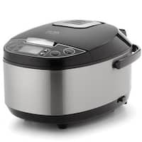 Aroma ARC-616SB Professional 12 Cup Stainless Steel Rice Cooker, Food Steamer & Slow Cooker