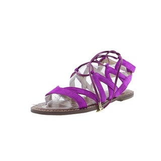 Sam Edelman Womens Gemma Gladiator Sandals Criss-Cross Front Lace Up