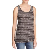 Avec Womens Tank Top Knit Side Slit