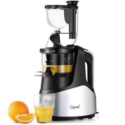"""Caynel Slow Masticating Juicer Cold Press Extractor with 3"""" Wide Chute"""