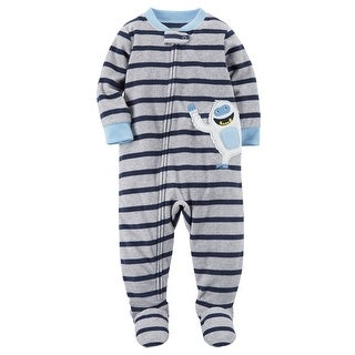 Carter's Baby Boys' 1 Piece Abominable Snowman Fleece Pajamas, 6 Months - abominable snowman