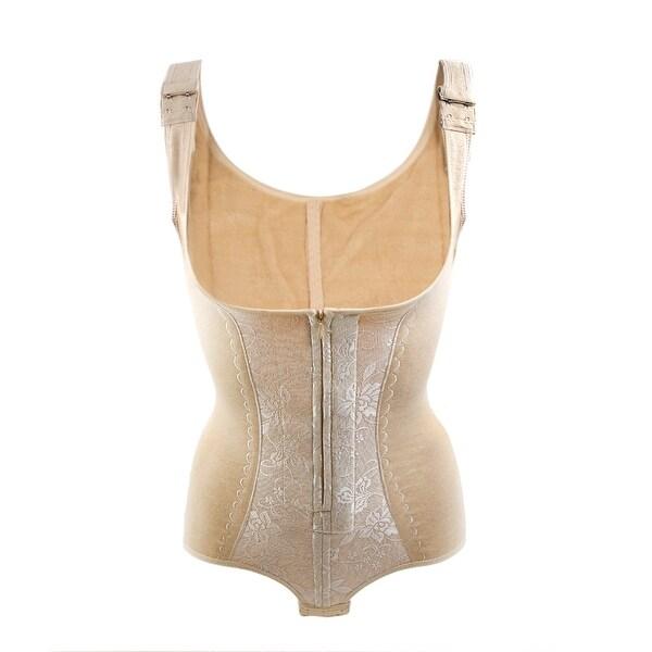 0712a55cb0e17 Women Skin Color Size XL Full Body Tummy Waist Shaping Warm Bodysuits  Underwear
