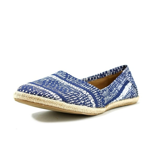 American Rag Owen Women Round Toe Canvas Blue Flats