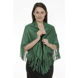 Women's Faux Suede Fringed Cape Shawl Wrap Scarf, Large Triangle|https://ak1.ostkcdn.com/images/products/is/images/direct/b47847e6bca488e980e54c4a7c5207f8c906ed6f/Women%27s-Faux-Suede-Fringed-Cape-Shawl-Wrap-Scarf%2C-Large-Triangle.jpg?impolicy=medium
