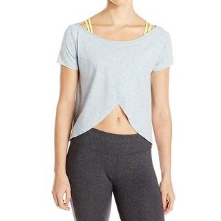 Maaji NEW Gray Womens Size Medium M Two-Piece Overlay Sports Bra Top