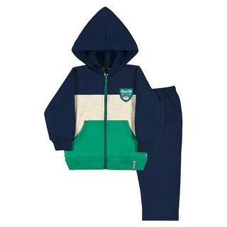 Baby Boy Outfit Hoodie Jacket and Sweatpant Set Pulla Bulla Sizes 3-12 Months