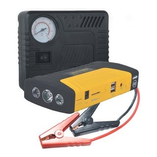 Multi-Function Vehicle Roadside Emergency Kit, Air Pressure Tire Pump & 3-in-1 Jump Start, Power Bank, Flashlight