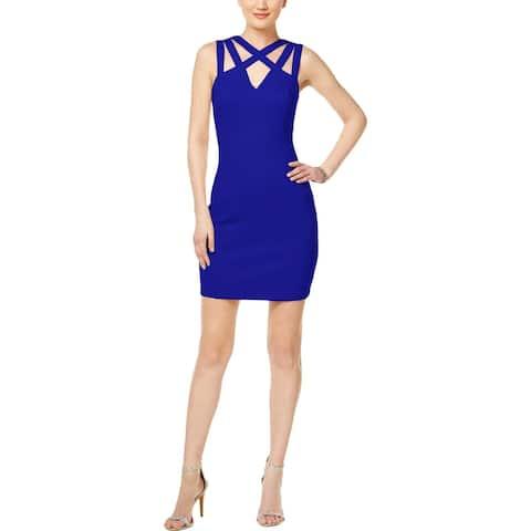 Guess Womens Scuba Dress Cut-Out Sleeveless