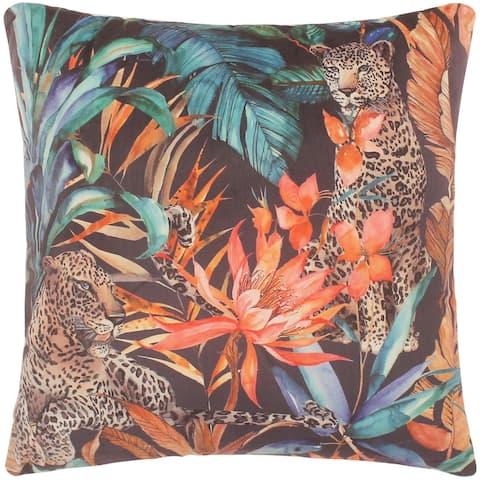 Boho Chic Grigg Printed Italian Velvet Handmade Pillow
